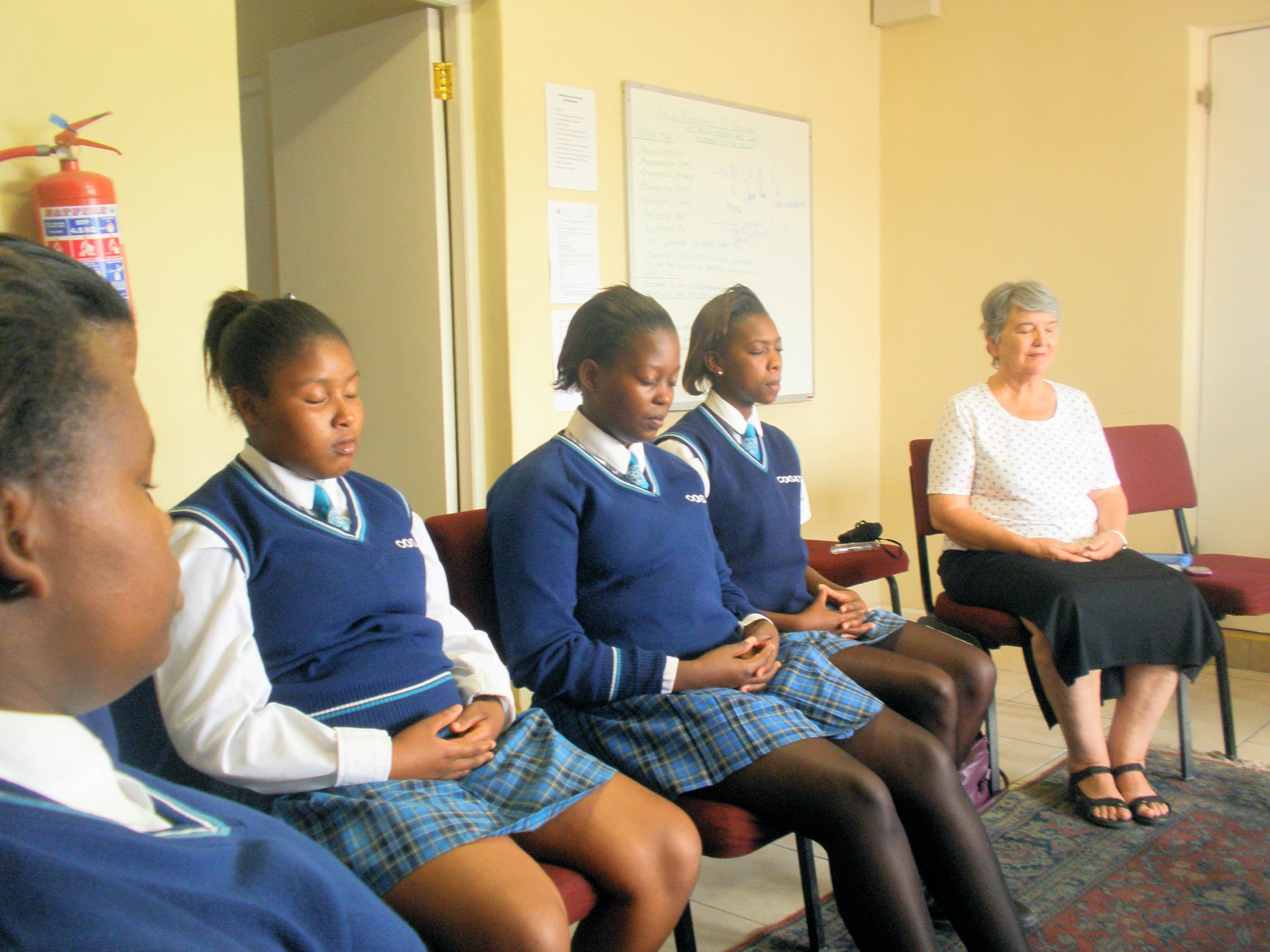 meditation extra mural classes at cosat secondary school